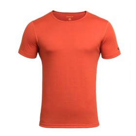 DEVOLD BREEZE MAN T-SHIRT GO 180 210 A TRIČKO MERINO PÁNSKE brick  DEVOLD
