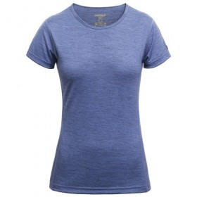 DEVOLD BREEZE WOMAN T-SHIRT GO 181 216 A TRIČKO MERINO DÁMSKE bluebell  DEVOLD