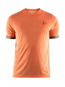 CRAFT 1905874-575200 EAZE MELANGE TRIČKO PÁNSKE oranžové  CRAFT