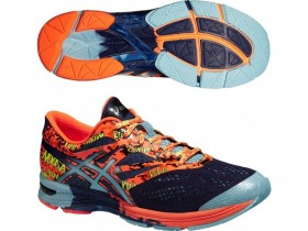 ASICS T530Q GEL NOOSA TRI 10 PÁNSKA OBUV aqua-blue navy flash orange  (kód: 4516)