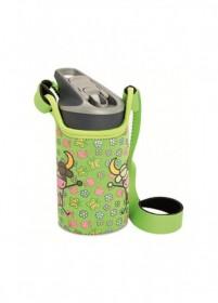 LAKEN JANNU TRITAN plastová flaša 450ml Kukuxumusu zelená + neoprén. obal BPA FREE  (kód: 6700) LAKEN
