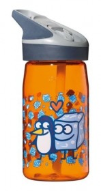 LAKEN JANNU TRITAN plastová flaša 450ml Kukuxumusu oranžová  BPA FREE  (kód: 7878)