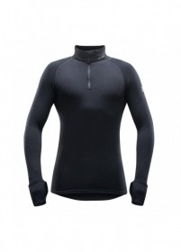 DEVOLD EXPEDITION MAN ZIP NECK 155 240 A 950A PÁNSKY ROLÁK čierny  DEVOLD