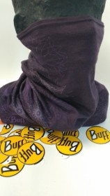 BUFF MERINO WOOL MULTIFINKČNÁ ŠATKA fialová s potlačou  (kód: 3525) BUFF