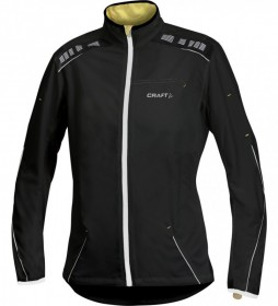 CRAFT 1900043 ELITE RUN JACKET BUNDA DÁMSKA čierna  (kód: 3726) CRAFT